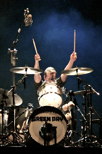 drummer Tre Cool photograph